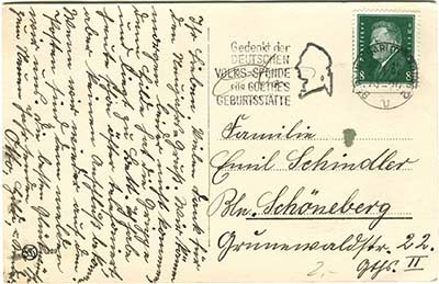 Historische Postkarten zum Thema Reichstagsgebäude 066_rückseite