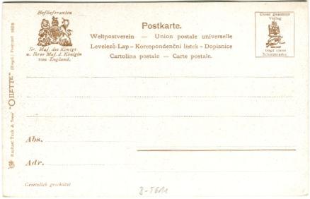 Postkarte berlin das reichtagsgebäude 001 rückseite
