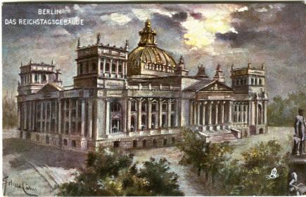 Postkarte berlin das reichtagsgebäude 001