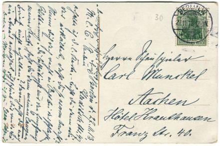 antike postkarte parlament berlin 005 rückseite