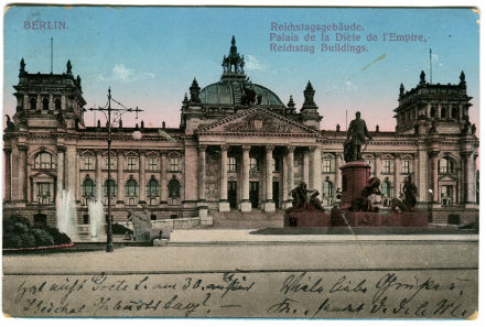 antike postkarte parlament berlin 005