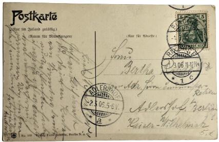 antike souvenir berlin postkarte 006_rückseite